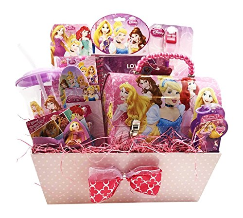 Girls Easter Baskets (Girls Gift Baskets - Disney Princess Themed Gifts Idea for Girls (10 Jewelry & Cosmetics)