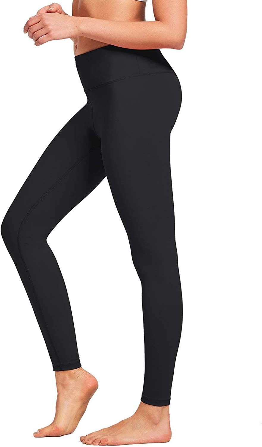 BALEAF Womens Ankle Legging Athletic Yoga Hiking Workout Pants Inner Pocket Non See-Through Fabric