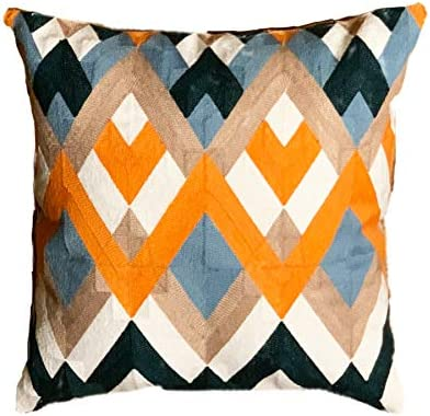 MAUBY HOME Decorative Pillow Covers, Modern Decorative Pillows,Geometric Throw Pillow 18 x 18 in Pillow Cover Diamond
