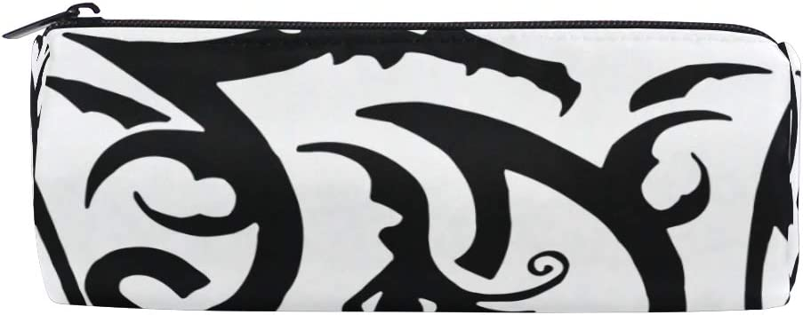 Tribal Dragon Tattoo Animal Pencil Pen Case Bag Pouch Holder Easy Access For Boys Girls Middle High School Office College Cosmetic Bag Adults Amazon Co Uk Office Products