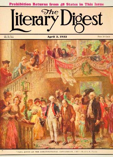 Costumes Conventions (1932 Cover Paul Jones Constitutional Convention Prohibition Jean Ferris Costume - Original Cover)