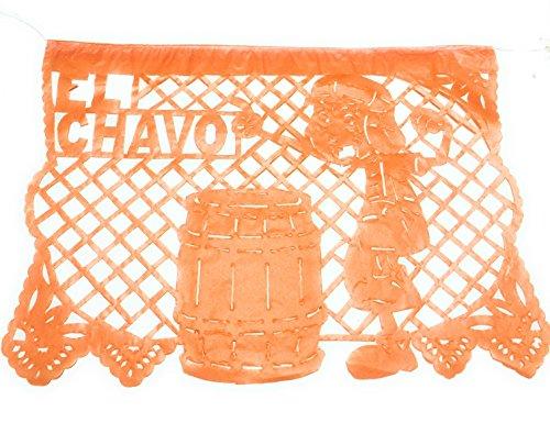 El Chavo del Ocho Party Jointed Banner Favor Happy Birthday Decoration Supplies (1 Piece),33 feet, Multicolor Papel picado