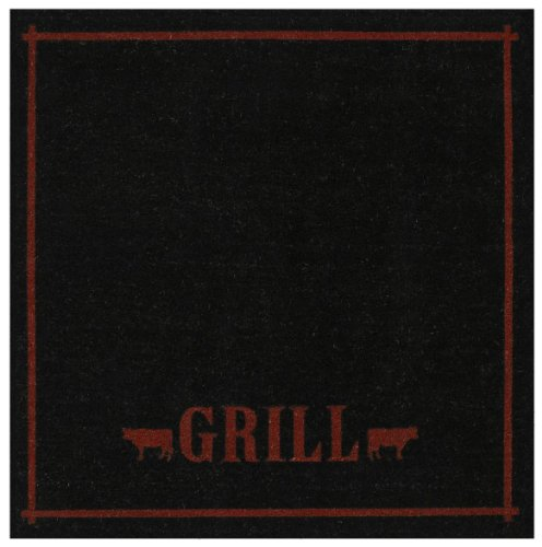 Home & More 120884646 Outdoor Grill Mat, 46'' x 46'' x 0.60'', Multicolor by Home & More