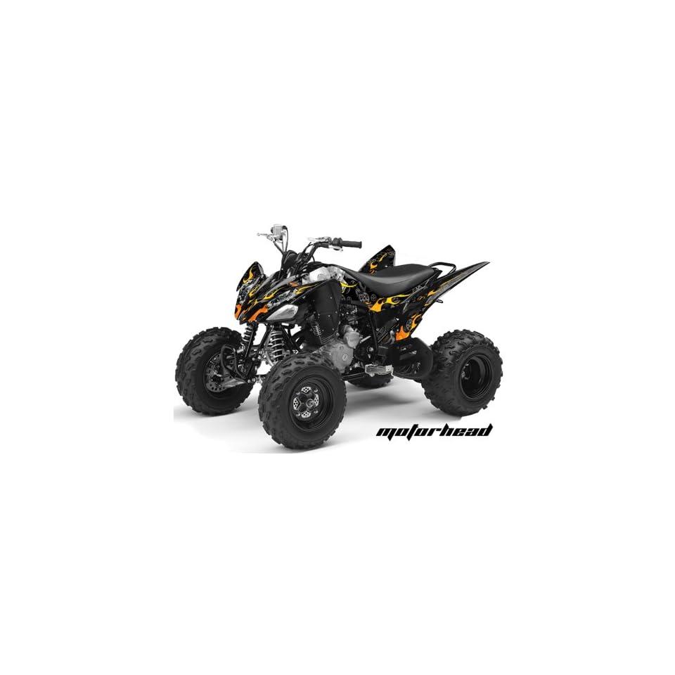 AMR Racing Yamaha Raptor 250 ATV Quad Graphic Kit   Motorhead Black