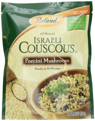 Roland Israeli Couscous Porcini Mushroom, 6.3 Ounce (Pack of 6) by Roland