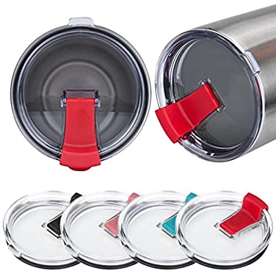 Morecome Spill And Splash Resistant Lid With Slider Closure For 30 Oz