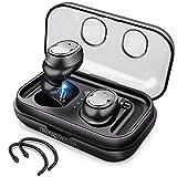 True Wireless Earbuds, TronicMaster Bluetooth v5.0 IPX5 Ergonomic Sweatproof Sports Headphones, 16H Playtime