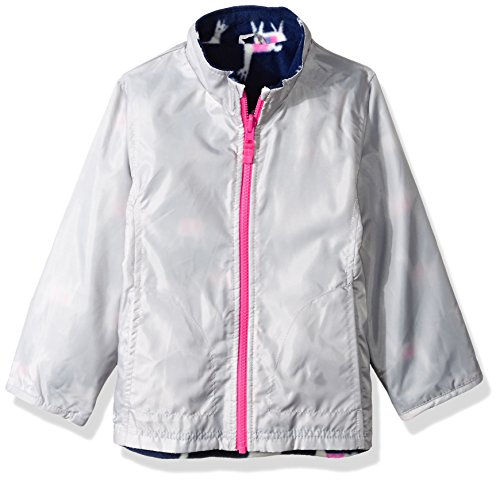 Carter's Little Girls' 4 in 1 Heavyweight Systems Jacket, Pink Llamas, 5/6 by Carter's (Image #5)