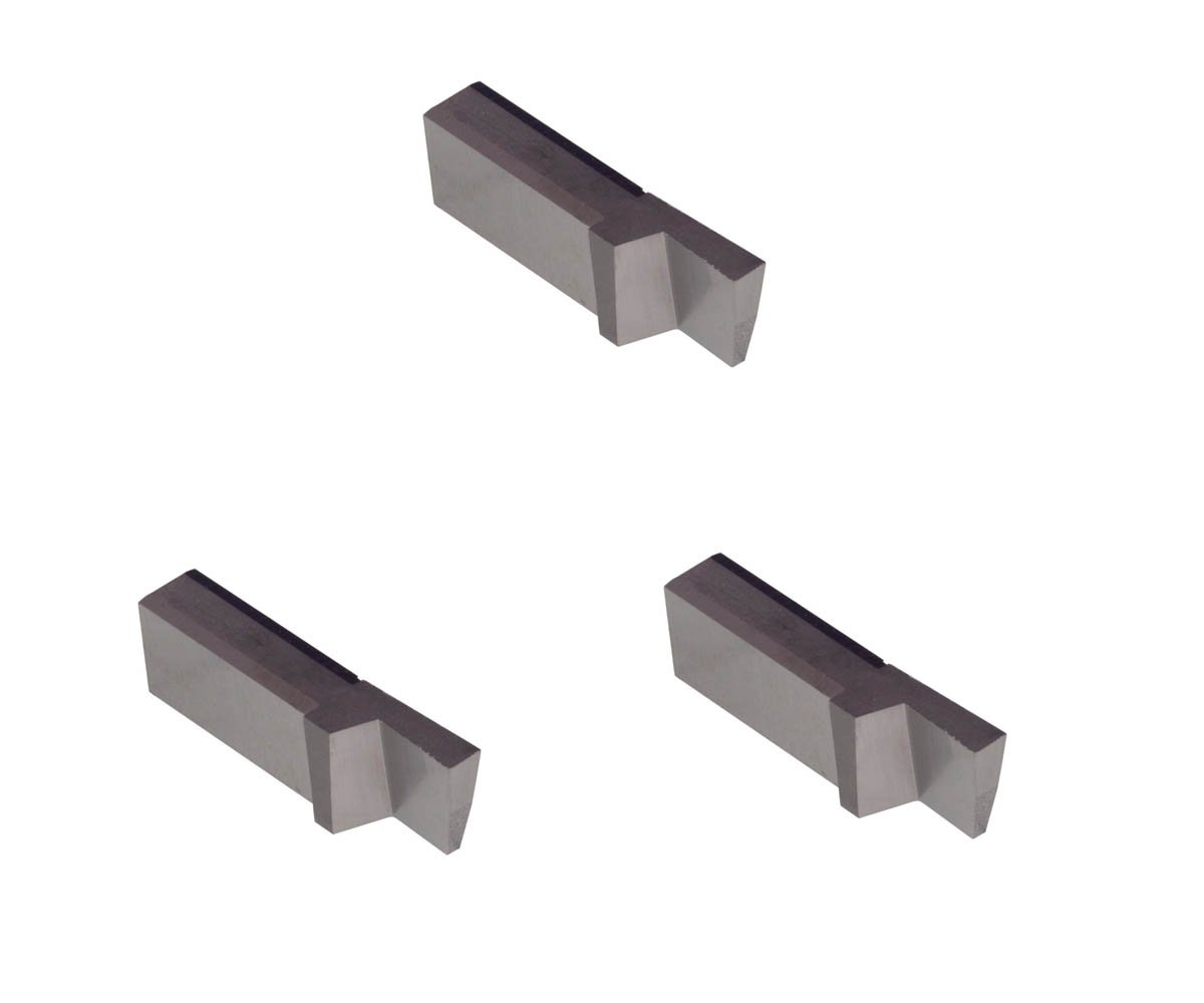 3 Pack LGT077D2R.077 Width.192 Depth, Uncoated Carbide, Sharp Corner, THINBIT Grooving Insert for Steel, cast Iron and Stainless Steel with Interrupted cuts