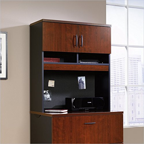 Sauder Via Hutch for Lateral File in Classic Cherry by Sauder