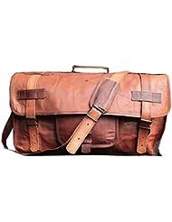 Handmadecraft Leather Handmade Vintage Duffel Luggage Travel Bag Gym Yogo Bag