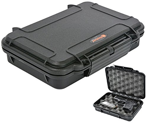 Pistol Case Handgun case Elephant Elite EL008 with Convoluted Foam Waterproof Concealed Carry for any Gun of 8'' Length by 5.25'' Height or smaller. by Elephant Cases