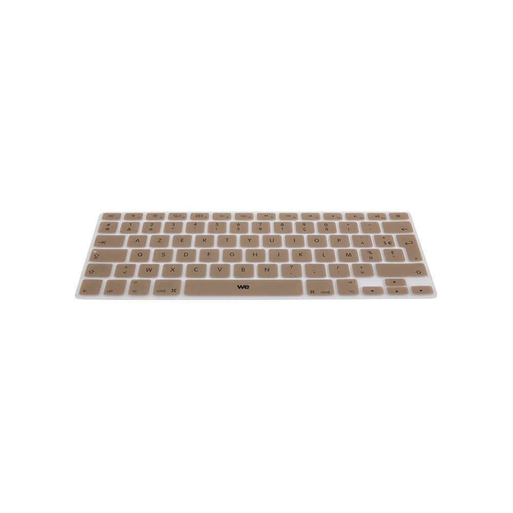 WE CLA IAIRPRORO Clavier de Protection pour MacBook en Silicone Or We Connect