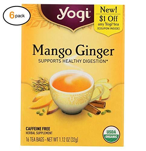 Yоgi Tеa - оrganic - Mangо Gingеr - Casе оf 6-16 Bag