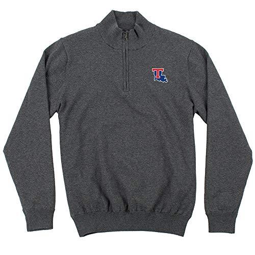Oxford NCAA Louisiana Tech Bulldogs Mens Mansell Long Sleeve Line Wind Sweater Pullovermen's Mansell Long Sleeve Line Wind Sweater Pullover, Iron Gate, Small ()