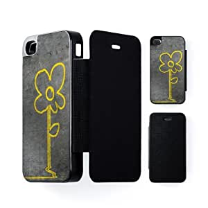 Banksy Flower Black Flip Case Snap-On Protective Hard Cover for Apple? iPhone 4 / 4s by Banksy + FREE Crystal Clear Screen Protector