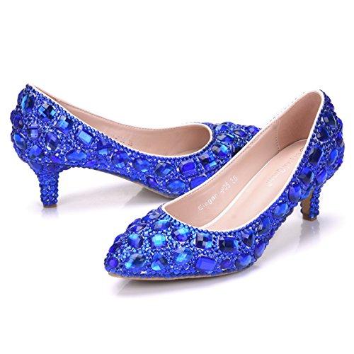 femme Plateforme Blue Heel 6cm Minitoo axqP8w67B