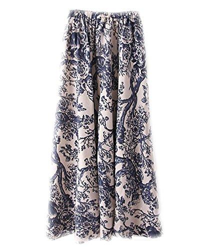 Longue Fleur Plage Kasen lastique Bohmien Jupe Taille Comme t Femmes 10 Maxi Image EOwBq8