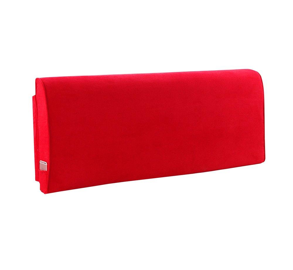 ベッドサイドソフトパック厚いスポンジクッショントライアングルピローと長い背もたれの取り外し可能と洗えるウエストピロー/レディングピロー (色 : Red, サイズ さいず : 180 * 60 * 10cm) B07DK7HBWY 180*60*10cm Red Red 180*60*10cm