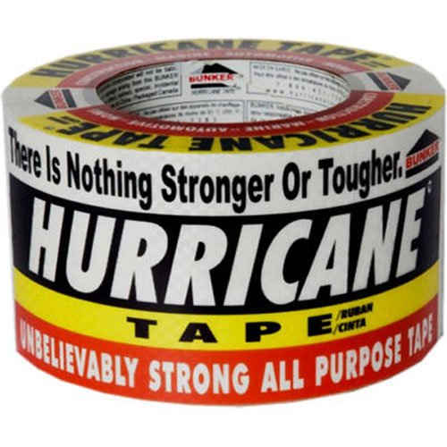 Bunker Industries HT360 Hurricane Heavy Duty Utility Tape, 2.95-Inch x 60-Yards, White (Yd Filament Tape)