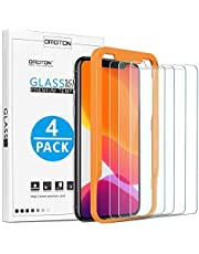 [4 Stück] OMOTON Schutzfolie für iphone 11 pro und iphone X und iphone XS Mit Positionierhilfe Panzerglasfolie für iphone 11 Pro/ XS/ X [9H Härte], [Anti-Kratzen], [Anti-Öl], [Anti-Bläschen].