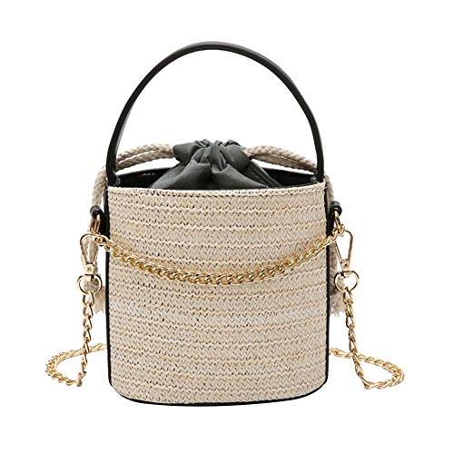 Bag Drawstring Handbag Crossbody Bucket Pouch Khaki Girls Travel White Lastnight Women for q746wq