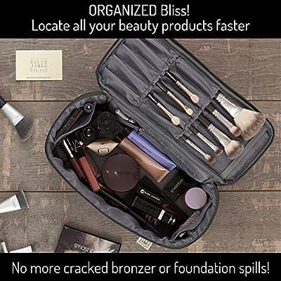 Ellis James Designs Travel Make Up Bag Large - Gris - Bolsas de ...