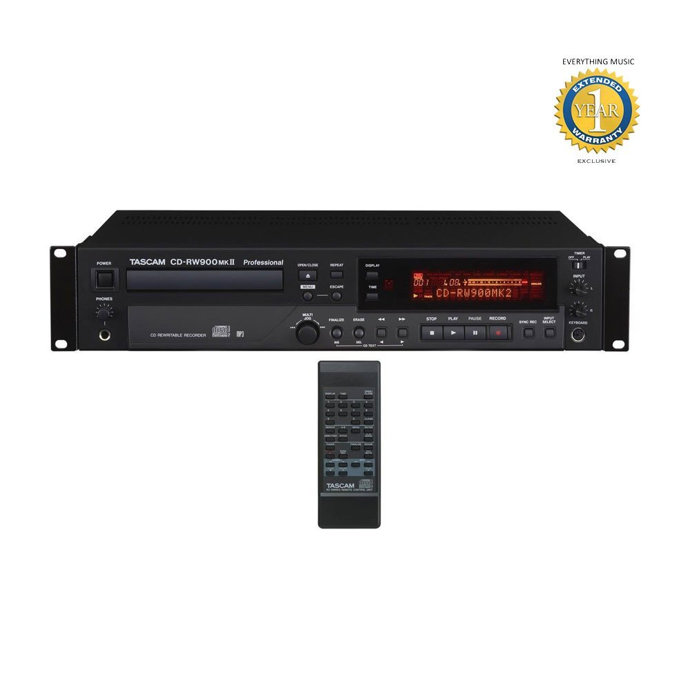 Tascam CD-RW900mkII CD Recorder Player with Microfiber and Free EverythingMusic 1 Year Extended Warranty