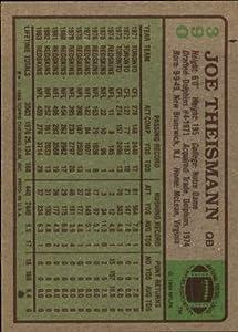 1984 Topps Football Card #390 Joe Theismann Near Mint