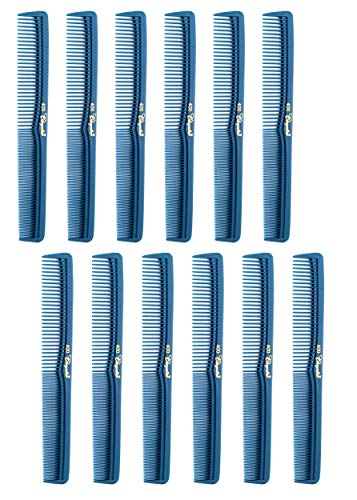 7 inch All Purpose Hair Comb. Hair Cutting Combs. Barber's & Hairstylist Combs. Teal. 12 Units.