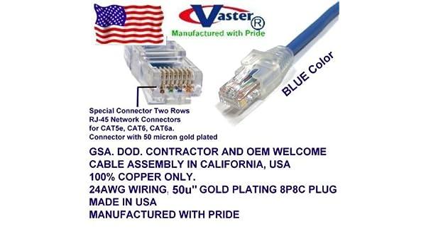 SuperEcable Blue Color 30970-5 Ft Cat6A Gigabit Network DSL Ethernet RJ45 Snagless Straight Patch Cable