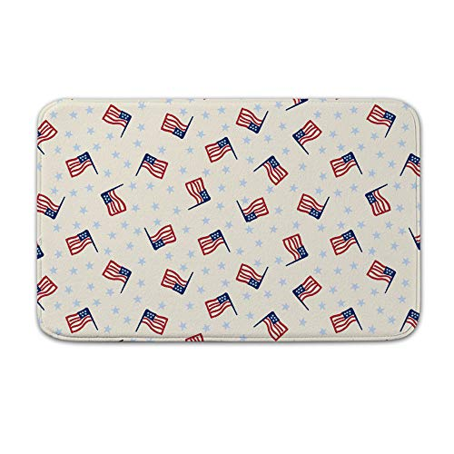(DKISEE Indoor Outdoor Entrance Rug Floor Mat Bathmat Americana Flag)