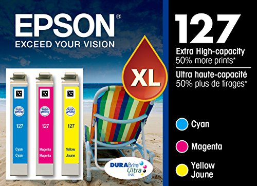 Epson T127520 DURABrite Ultra MultiPack Ink Cartridges Extra HighCapacity CMY  Frustration Free Packaging Ink
