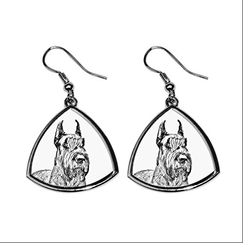 Schnauzer Cropped, collection of earrings with images of purebred dogs, unique gift (Schnauzer Cropped)