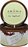 Aroma Naturals - Wish Holiday Soy VegePure Small Travel Tin Eco-Candle Peppermint & Vanilla by Aroma Naturals