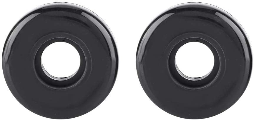 Dilwe 1 Pair Luggage Wheel Rubber Suitcase Replacement Wheels with Screws Bearing Axles Repair Tool for OD 45mm Wrench