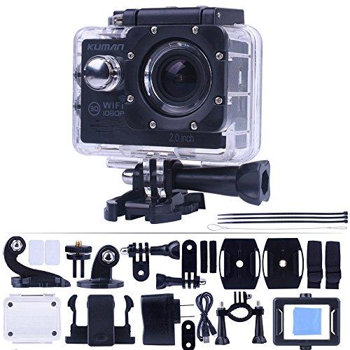 wifi kamera Kuman MH21D 4K WIFI Action Cam Sport Camera 1080p 60fps 12MP 2.0