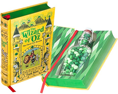 Flask Hollow Book - The Wizard of Oz by L. Frank Baum (Leather-bound) (Magnetic Closure) - Glasses Frank Custom