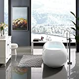 55 freestanding bathtubs - Swiss Madison Plaisir 55 in. Acrylic Freestanding Flatbottom Non-Whirlpool Soaking Bathtub in White