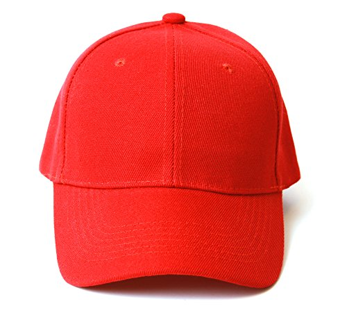 Plain Red Adjustable Hat]()