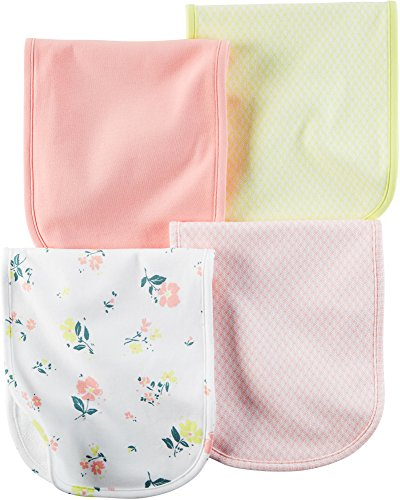 Carter's Baby Girls Burp Cloths 126g291, Assorted, One Size