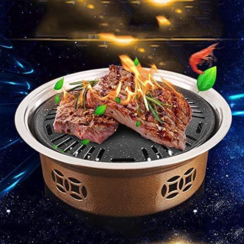 Guoguocy Grills électriques Barbecue, Ronde coréenne Smokeless Carbon Grill, Maifan Pierre de Cuisson Vaisselle, Saine et Durable, intérieur et extérieur