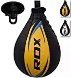 RDX Speed Ball Cow Hide Leather Boxing Bag MMA Swivel Punching Workout Training