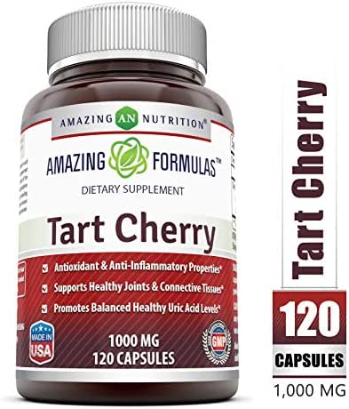 Amazing Formulas Tart Cherry Extract - 1000 Mg, 120 Capsules - Antioxidant Support - Promotes Joint Health & a Proper Uric Acid Level Balance