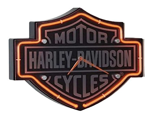 (Harley-Davidson Etched Bar & Shield Shaped Neon)