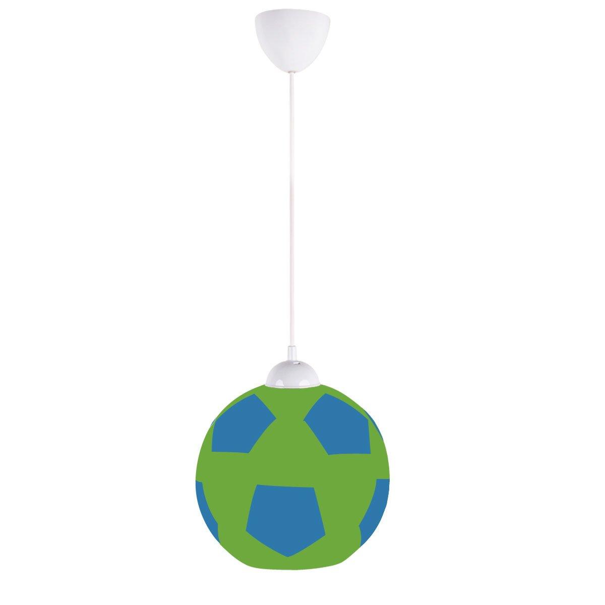 Seattle soccer ball pendant high qaulity blown glass sounders green blue by art win lighting la amazon com