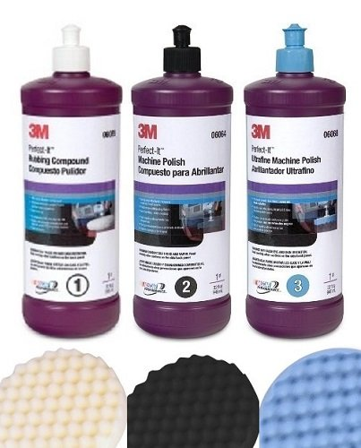 3M Perfect-It Buffing & Polishing Kit 6064, 6068, 6085, 5723, 5725, 5751 1 KIT by 3M
