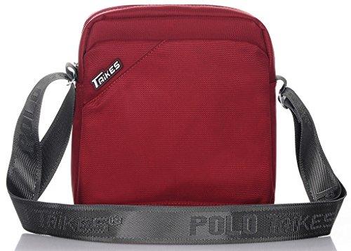 TAIKES Men's Shoulder Travel Messager Bag Crossbody Ipad Bag Daypack Black-3