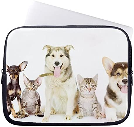 Laptop Sleeve case cover 10 Inch,Notebook//MacBook Pro//MacBook Air Laptop Lovely Cats And Dogs Pattern DW-503 Laptop Sleeve Cover