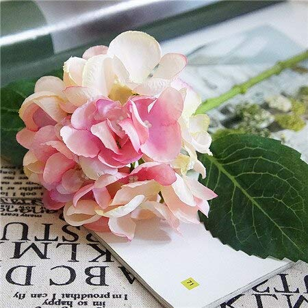 (UTREND_ Artificial Flowers Hydrangea Silk Mini Sweet Pea Flower dekor Plant Bouquet Artificial Flowers Garden Decor for Home Crafting - (Color:Light-Pink))